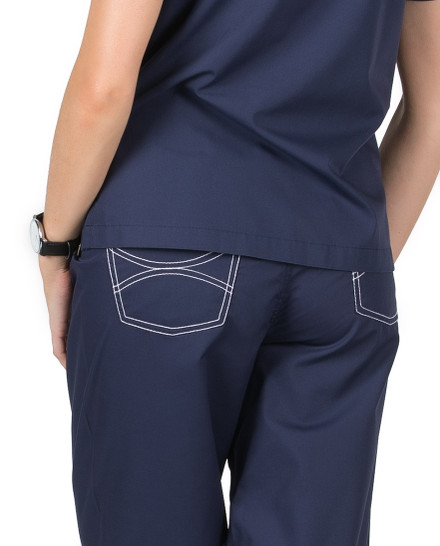 "2XL Tall 34"" - Navy Blue Classic Shelby Medical Scrub Pants"