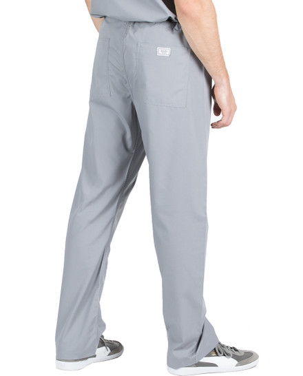 Small Petite Slate Grey David Simple Scrub Pants