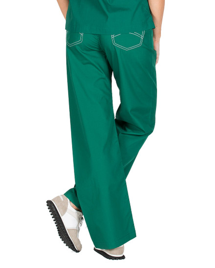 "Medium Tall 34"" - Pine Green Shelby Scrub Pants"