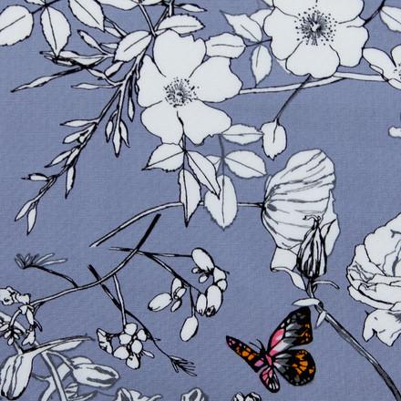 Butterfly Blossoms Poppy Scrub Hat