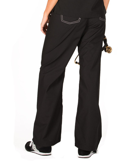 "Large Tall 32"" - Jet Black Classic Shelby Scrub Pants"