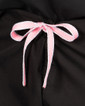 Limited Edition Shelby Scrub Pants - Black with Light Pink Stitching and Light Pink/Silver Metallic Tie - Image Variant_1