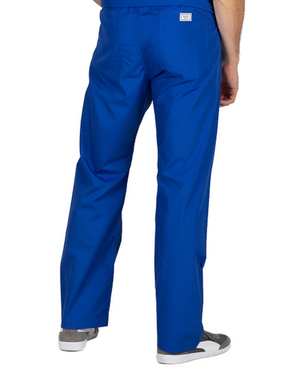 Large Royal Blue David Simple Scrub Pants