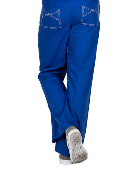 Small Royal Blue David Shelby Scrub Pants