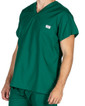 Large Long Pine Green Sullivan Simple Scrub Top - Image Variant_0