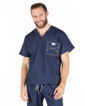 Large Long Navy Blue David Shelby Scrub Top - Image Variant_0