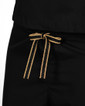 Limited Edition Simple Scrub Pants - Black with Gold Metallic/Black Tie - Image Variant_0