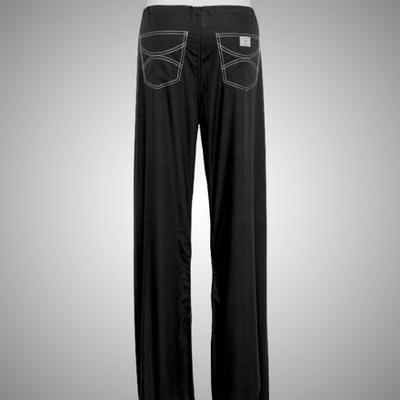 Medium Petite Jet Black David Shelby Scrub Pants