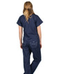 Limited Edition Shelby Scrub Tops - Navy with Ceil Blue Stitching - Image Variant_2