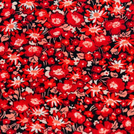 Raving Red Blooms Poppy Scrub Hats