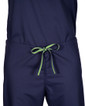 Limited Edition Shelby Scrub Pants - Navy with Lime Green Stitching and Lime/Navy Tie - Image Variant_0