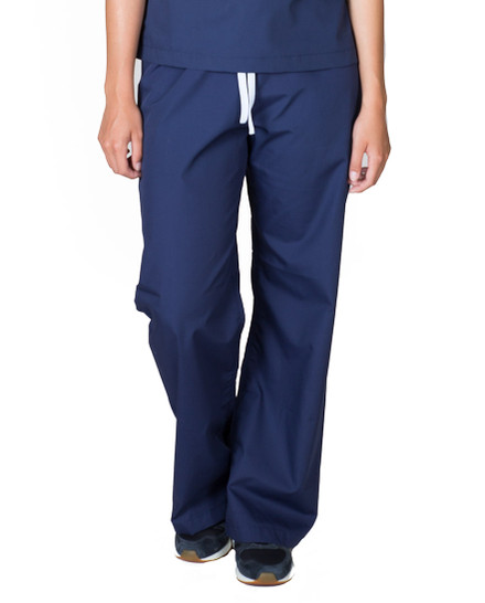 "XS Tall 36"" - Navy Blue Classic Simple Scrub Pants"