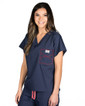 Limited Edition Shelby Scrub Tops - Navy with Red Stitching - Image Variant_0