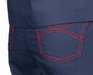 Limited Edition Shelby Scrub Pants - Navy with Red Stitching and Pink/Red Tie - Image Variant_1