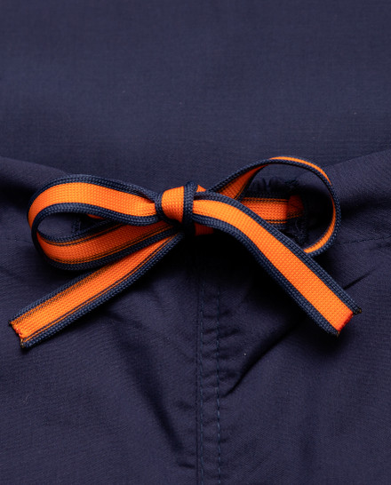 Limited Edition Shelby Scrub Pants - Navy with Tangerine Stitching and Navy/Tangerine Tie