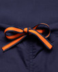 Limited Edition Shelby Scrub Pants - Navy with Tangerine Stitching and Navy/Tangerine Tie - Image Variant_1