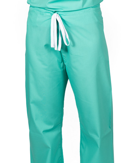 "XS Tall 32"" Carnegie Green - Classic Simple Scrub Pants"