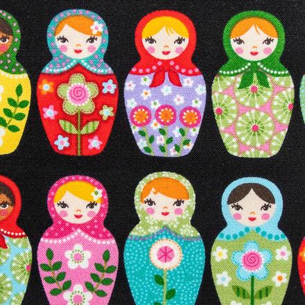 Matryoshka Dolls Pony Scrub Caps