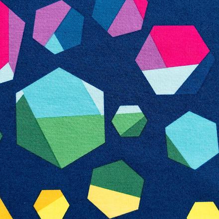 Geometric Rainbow Poppy Surgical Caps