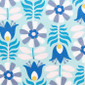 Beyond Blue Blooms Pixie Scrub Caps - Image Variant_0