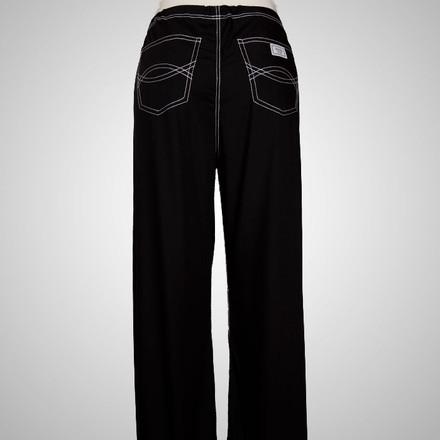 "Large Tall 32"" - Jet Black Urban Shelby Scrub Pants"