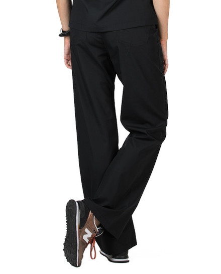 Medium Petite Jet Black Classic Simple Scrubs Pants