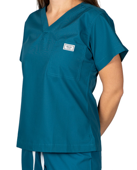 "Small Long 1"" added length - Caribbean Classic Simple Scrub Top"