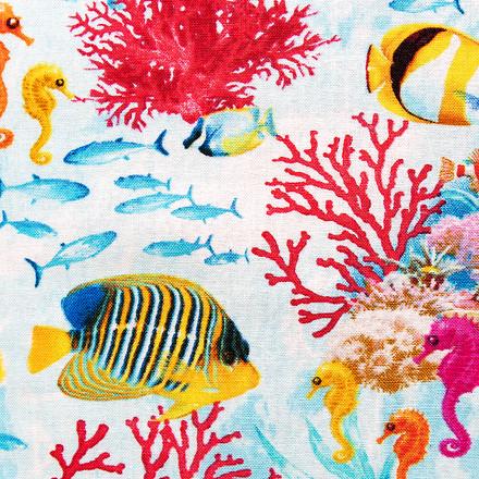 Great Barrier Reef Poppy Scrub Cap