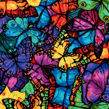 Rainbow Butterflies Pony Surgical Cap
