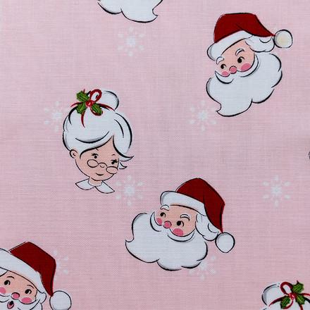 Santa and Mrs Claus Pony Scrub Caps