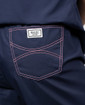Limited Edition Shelby Scrub Pants - Navy with Light Pink Stitching and Pink Ombre Tie - Image Variant_2