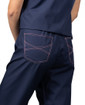 Limited Edition Shelby Scrub Pants - Navy with Light Pink Stitching and Pink Ombre Tie - Image Variant_1