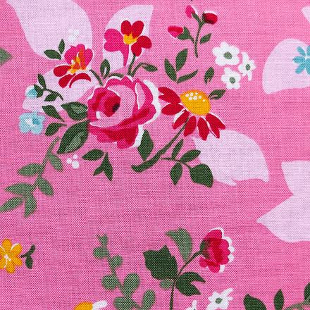 Pink Aura Poppy Scrub Caps