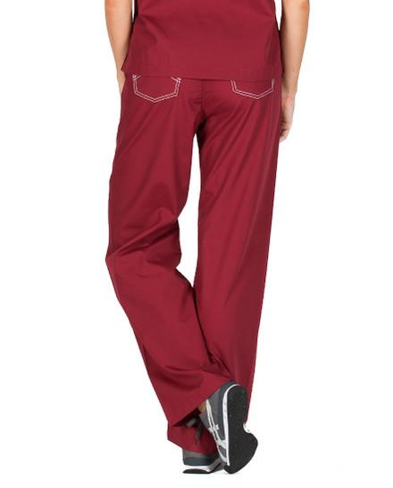 2XL Crimson Wine Shelby Scrub Pants