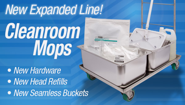 Cleanroom Mops | Cleanroom Mop Buckets | Clean Room Supplies ...