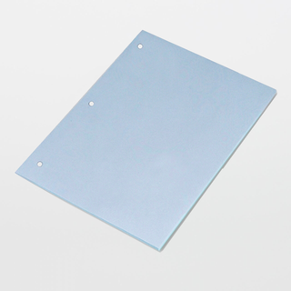 """Texwipe TX5816 TexWrite Medium-Weight 8.5"""" x 11"""" Blue Cleanroom Paper 3-Hole Punched"""