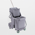 Texwipe TX7063 BetaMop Polypropylene Integrated Dual-Bucket System with Wringer