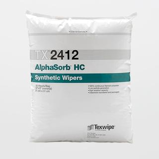 "Texwipe TX2412 AlphaSorb HC 12"" x 12"" Polyester Cleanroom Wiper"