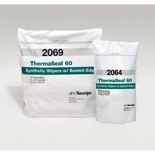 """Texwipe TX2069 ThermaSeal60 9"""" x 9"""" Polyester Cleanroom Wiper"""