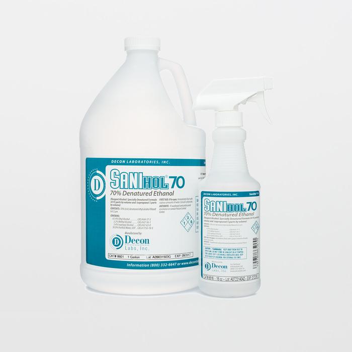Sanihol 8601 Non-Sterile 70% Denatured Ethanol Solution (1 Gallon Bottle,  4/Case)