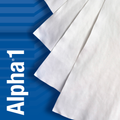 """TX1204 Alpha 1 Microfiber 4"""" x 4"""" Polyester and Nylon Cleanroom Wiper"""