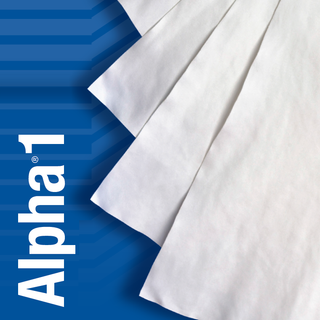 """TX1206 Alpha 1 Microfiber 6"""" x 6"""" Polyester and Nylon Cleanroom Wiper"""