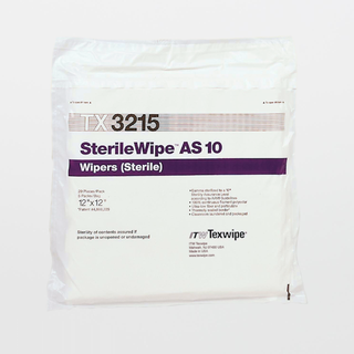 """TX3215 SterileWipe AS10 12"""" x 12"""" Polyester Cleanroom Wiper"""