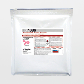 """TX1086 Vectra QuanSat 9"""" x 9"""" Polyester Cleanroom Wiper Pre-Wetted 6% IPA"""
