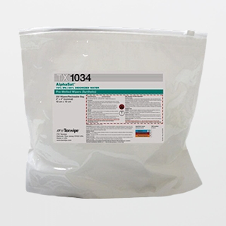 """TX1034 AlphaSat 4"""" x 4"""" Polyester Cleanroom Wiper Pre-Wetted 70% IPA"""