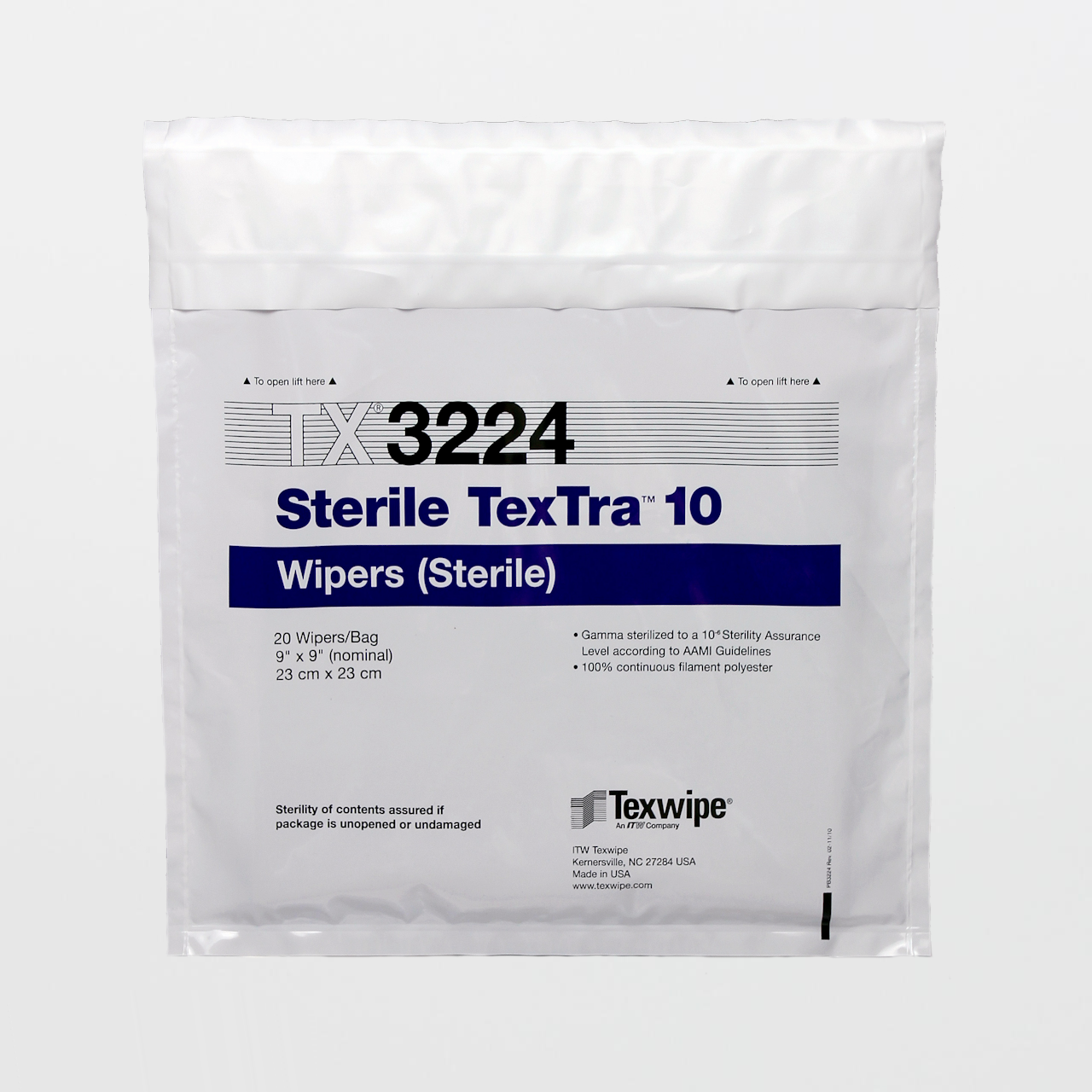 Sterile Textra Quality Polyester Cleanroom Wipers Shop