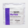 "TX3221 Sterile Vertex 11"" x 11"" Polyester 2-Ply Sealed Edge Cleanroom Wiper"