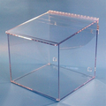 """12""""W x 12""""H x 12""""D - Cleanroom 1-Compartment Dispenser (Sloping Lid)"""
