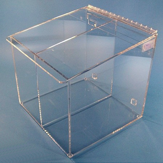 """12""""W x 12""""H x 11.5""""D - Cleanroom 2-Compartment Dispenser (Sloping Lid)"""