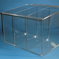 """16""""W x 12""""H x 12""""D - Cleanroom 3-Compartment Dispenser (Sloping Lid)"""